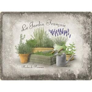 Plechová cedule Le Jardin Francais - Herbes de Provence