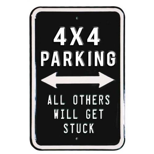 Plechová cedule 4x4 parking only