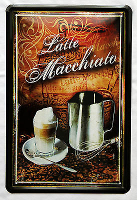 Plechová cedule káva -Latte macchiato