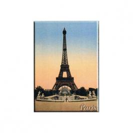 Plechová retro cedule Paris -Eiffelova věž Blue