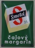 Smaltovaná originální cedule Smetol - čajový margarin