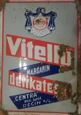 Originální smaltovaná cedule Vitello