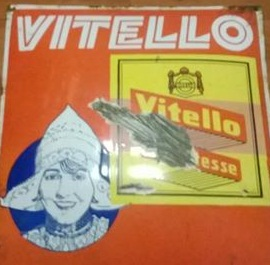 Originální smaltovaná cedule Vitello Delikatesse