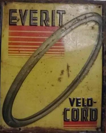 Stará originální cedule Everit