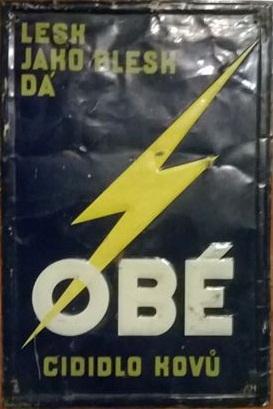 Stará originální cedule Obé