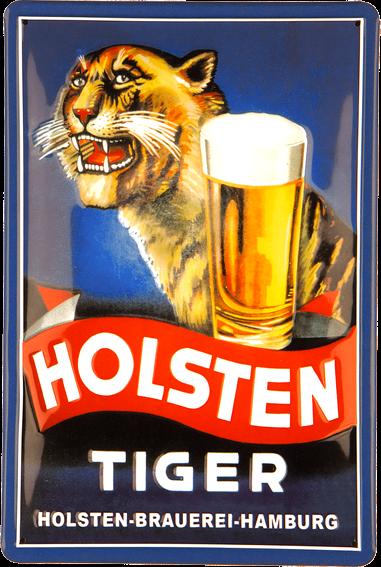 Plechová cedule pivo - Holsten tiger