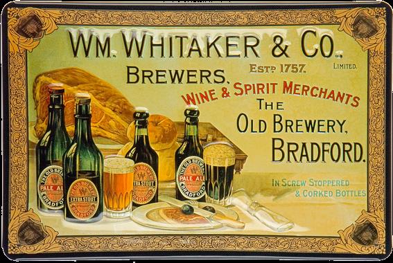 Plechová cedule pivo - WM. Whitaker