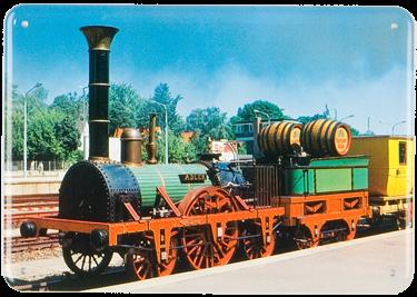 Plechová cedule Lokomotiva 503501-9 vlak