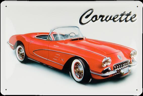 Plechová cedule auto Corvette