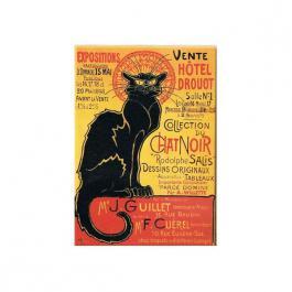 Plechová cedule Collection du Chat noir - černá kočka