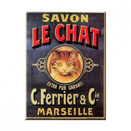 Plechová cedule Savon le Chat - kočka