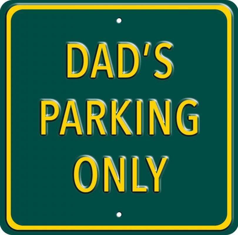 Plechová cedule Dads parking only