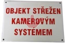 Smaltovaná výstražná cedule - Prostor střežen kamerovým systémem