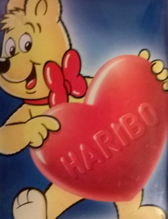 Plechová cedulka Haribo srdce