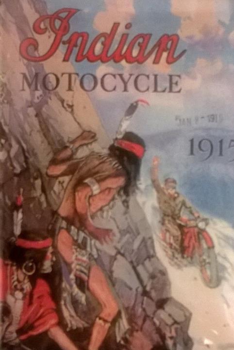 Plechová cedulka Indian Motocycle 1915