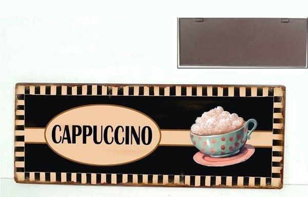 Plechová cedule Coffe - Cappuccino
