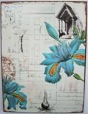 Plechová cedule Blue flowers