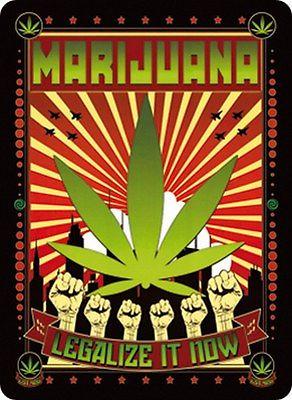 Plechová cedule Marijuana
