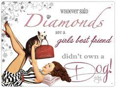 Plechová cedule Diamonds