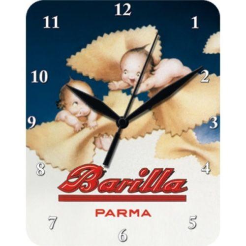 Plechové hodiny Barilla děti