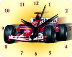 Plechové hodiny Formule 1