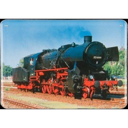 Plechová cedule Lokomotiva 526666 vlak