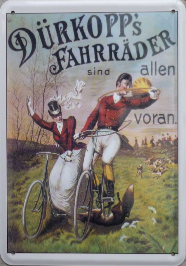 Plechová cedule kolo Dürkopp's Fahrräder