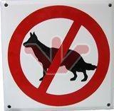 Smaltovaná výstražná cedule - Zákaz psům
