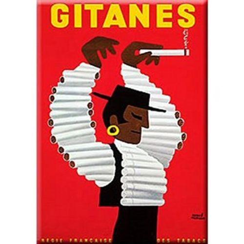 Plechová retro cedule Gitanes - cigarety