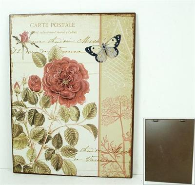 Plechová cedule Carte postale Růže