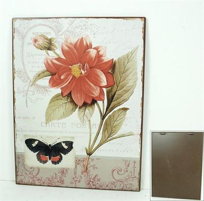 Plechová cedule Motýl
