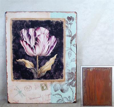 Plechová vintage cedule Tulipán