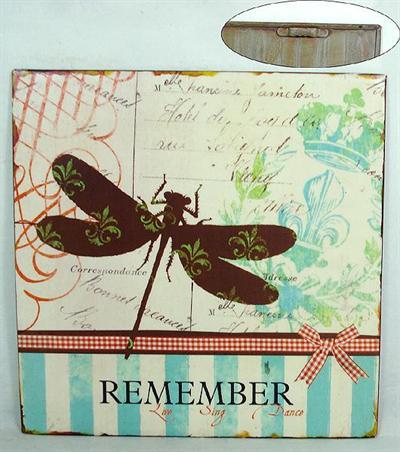 Plechová cedule Remember - Vážka