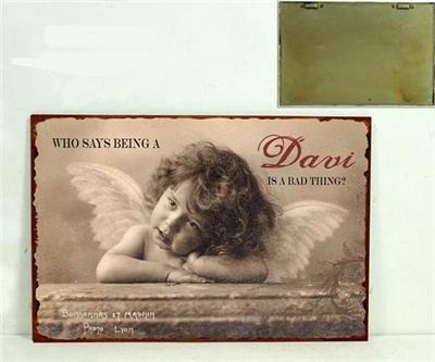 Plechová cedule Anděl - Davi
