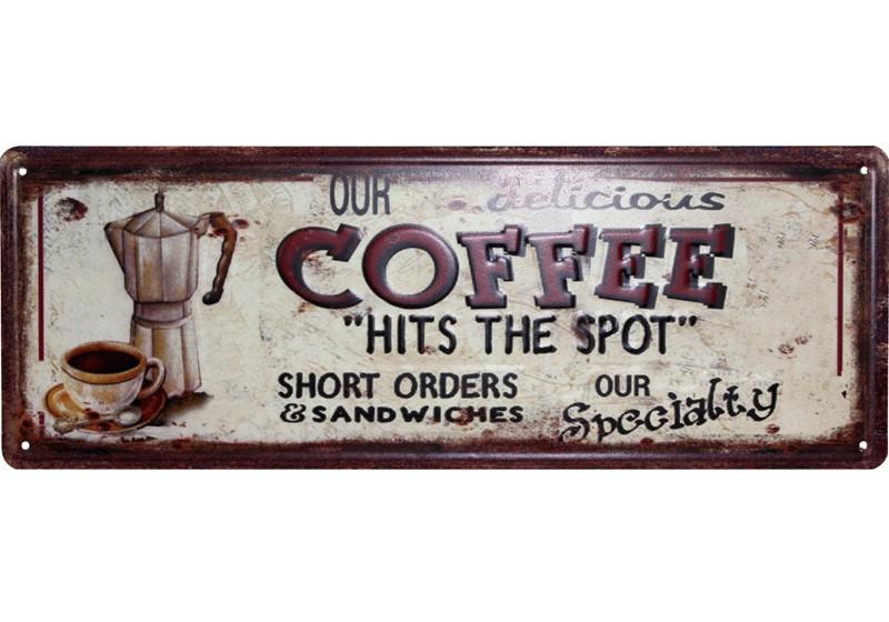 Plechová cedule Our Coffe