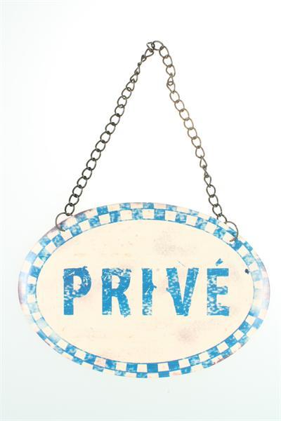 Plechová cedulka na dveře Privé - Private