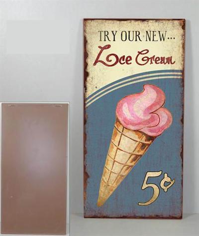 Plechová cedule Ice cream - zmrzlina