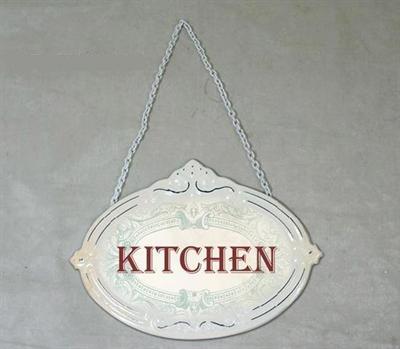 Plechová cedulka na dveře Kitchen