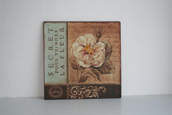 Plechová cedule vintage Secret