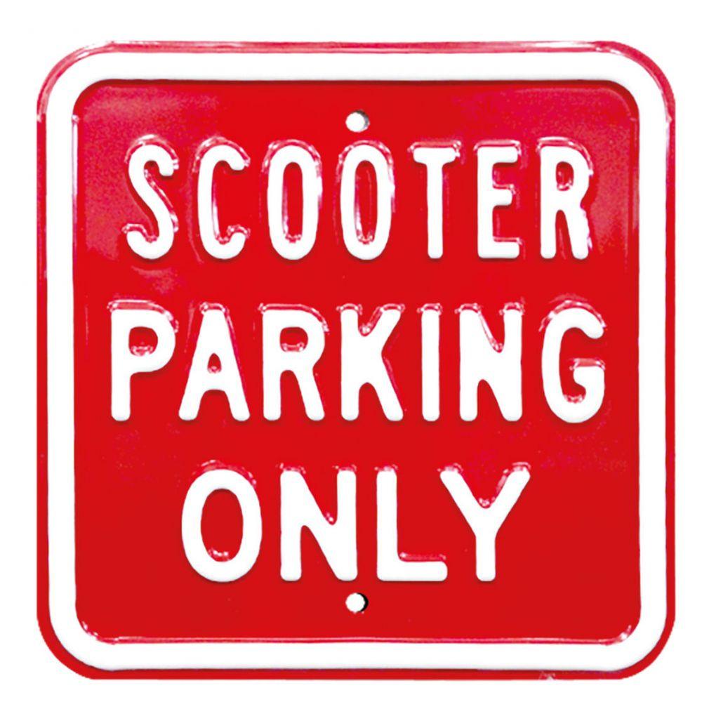 Plechová cedule Scooter Parking Only