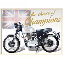 Plechová cedule motorka BSA Gold star