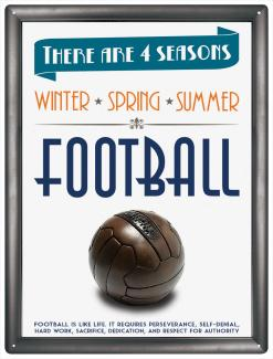 Plechová cedule Football