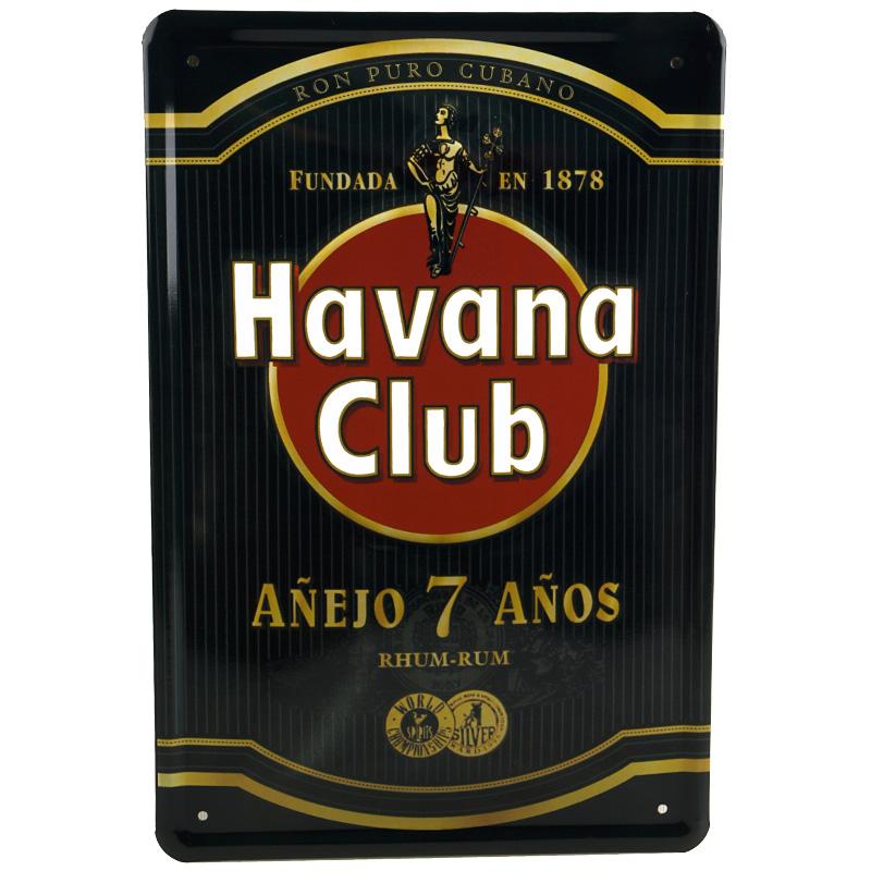 Plechová cedule Havana club - černá
