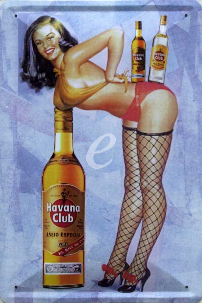 Plechová cedule Havana club - žena