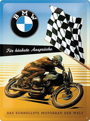 Plechová cedule motorka BMW Für höchste Ansprüche