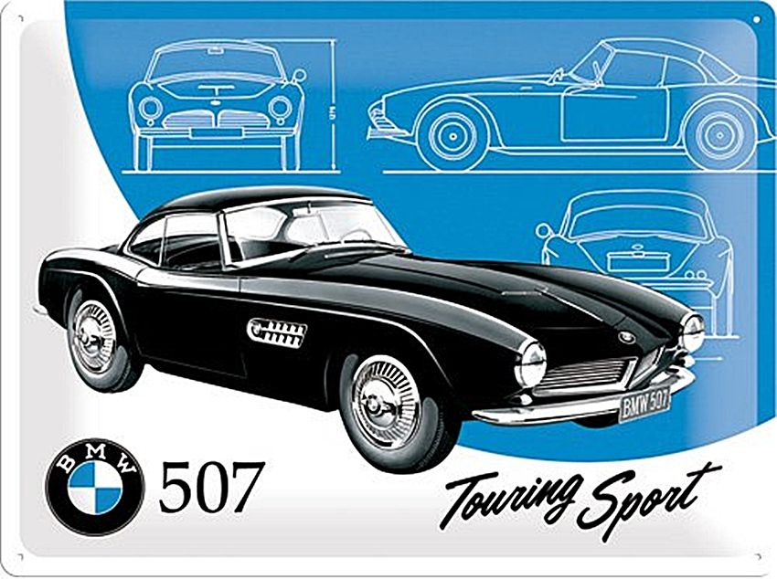 Plechová cedule BMW 507 touring sport
