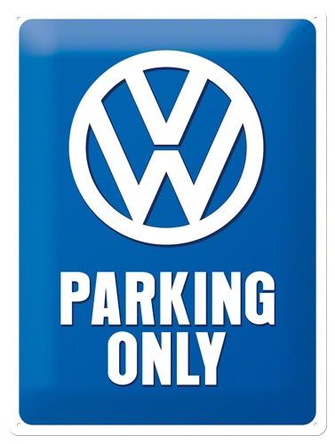 Plechová cedule VW Parking only S