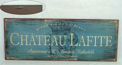 Plechová vintage cedule Chatetau Lafite víno