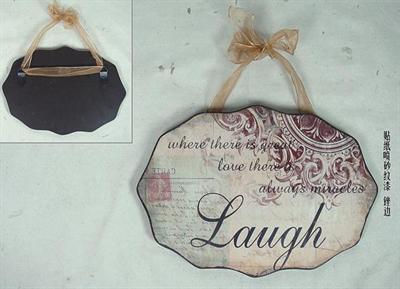 Plechová vintage cedule Laugh