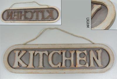 Plechová maxi cedule Kitchen